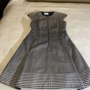 Akris Punto black and white fit and flare dress. 6